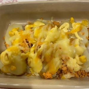 シャケとポテトのマヨチーズ焼き