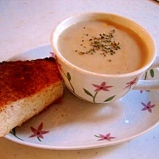 残ったお節で海老芋のポタージュスープ