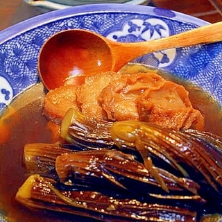茄子と油麩の煮つけ