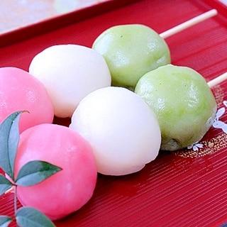 4月お花見レシピ★3色団子(レンジ)