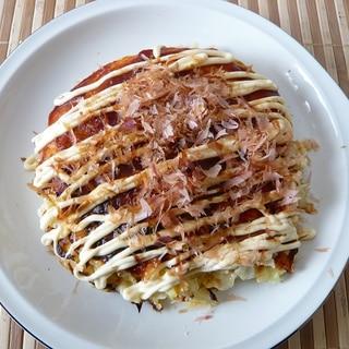 ツナとキャベツのお好み焼きレシピ