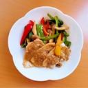 豚の生姜焼肉のタレ焼き☆パプリカソテー添え