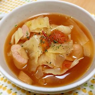 ケチャップで即席♡キャベツのトマトスープ