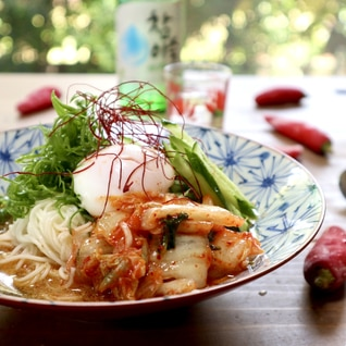 ピリ辛つゆのキムチ素麺