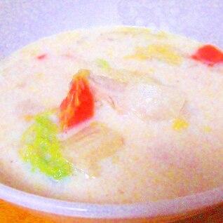 圧力鍋で鶏手羽のミルクスープ
