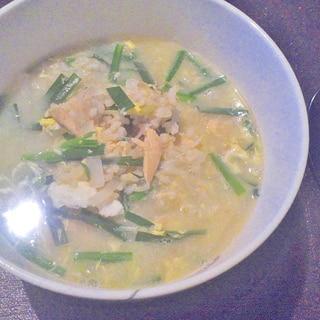 冷凍ご飯と鮭缶で簡単★クッパ風スープご飯