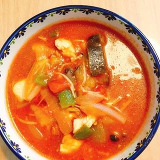 *ダイエット*野菜たっぷりトマトスープ鶏胸肉