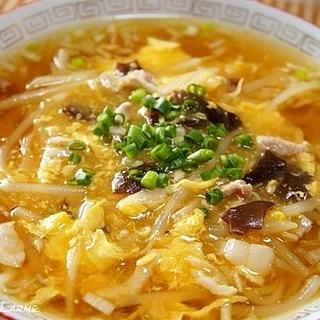 酸っぱ辛っ! タバスコとふかひれスープde酸辣湯麺