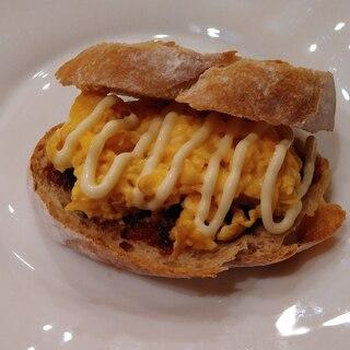 カンパーニュのトーストサンド