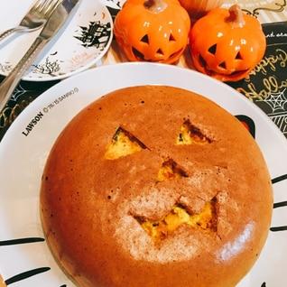 HMと炊飯器でかぼちゃケーキ((◆▼◆))