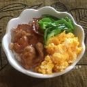 簡単☆豚焼き肉3色丼♫