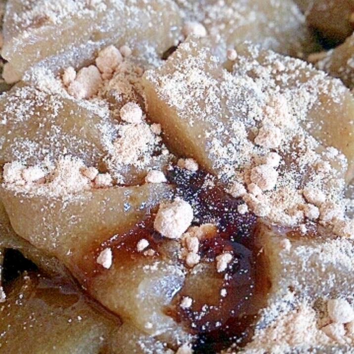 サイリウム、オオバコで抹茶わらび餅風デザート。