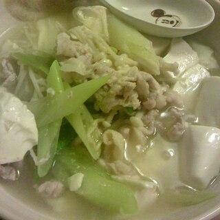 さっぱり塩麹肉豆腐