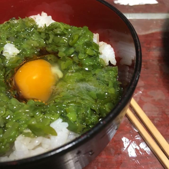 めかぶ卵かけご飯