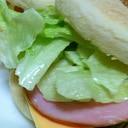イングリッシュマフィン ハムチーズサンド