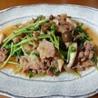 豚肉と豆苗の生姜炒め