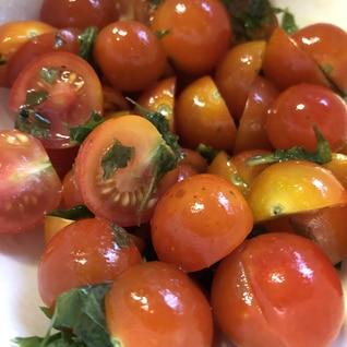 ミニトマトと大葉のオリーブオイル和え