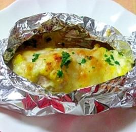 鮭のマヨコーンチーズ焼き