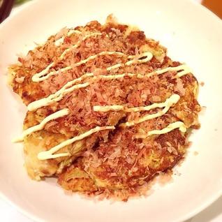 豆腐と納豆のお好み焼き☆ ダイエットでも大満足!