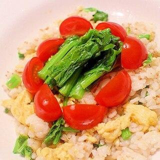 【簡単】菜の花と卵の春色混ぜご飯