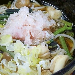 旬のワラビが旨い♪ 「山菜おろし蕎麦」