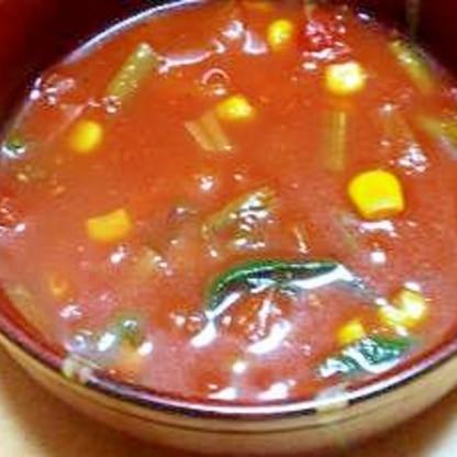 玉ねぎなしでも甘い簡単♪お手軽トマトスープ