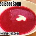 ビーツの真っ赤な冷製スープ