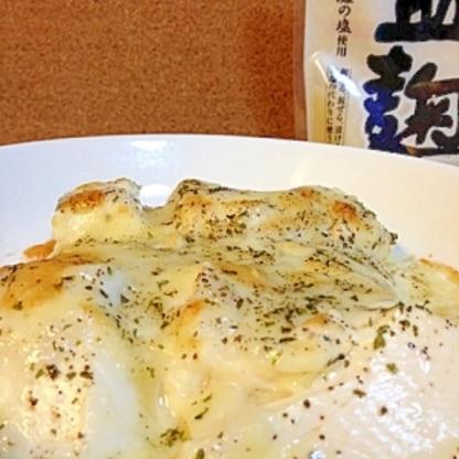 お腹に優しい☆豆腐の塩麹グラタン風