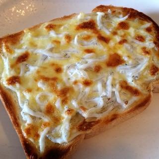 しらすを使った鎌倉風ピザトースト