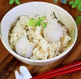 塩昆布と里芋の炊き込みごはん