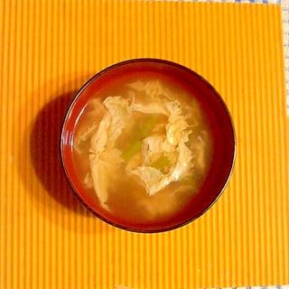 ニンニクの芽と卵のスープ♪