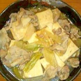 うどんスープの素で肉豆腐