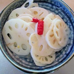 箸休めに☆レンコンの酢の物