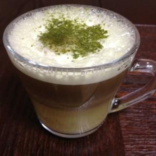 バリスタで抹茶カプチーノ
