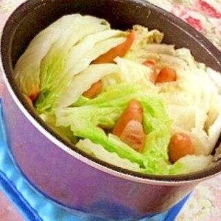 そのまま食卓❤白菜とウィンナーの簡単鍋❤