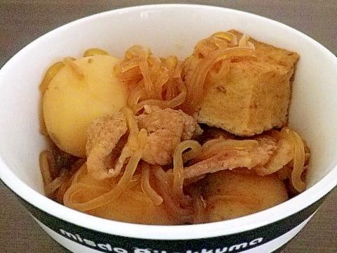 冷凍厚揚げと里芋の煮物
