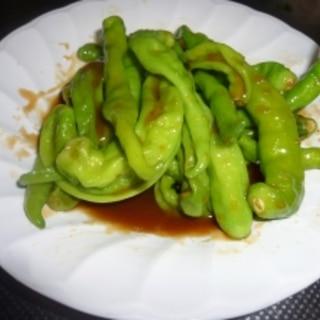 青唐辛子の味噌炒め