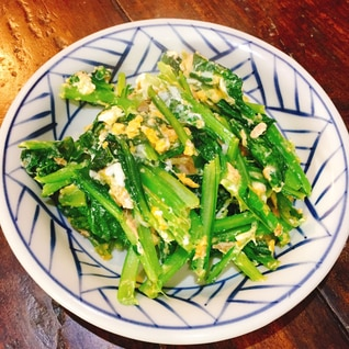 壬生菜の炒め物