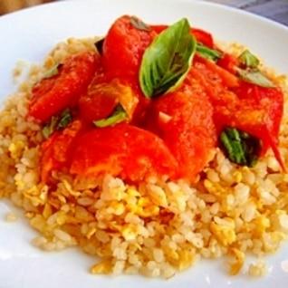 トマトたっぷり♪イタリアン炒飯