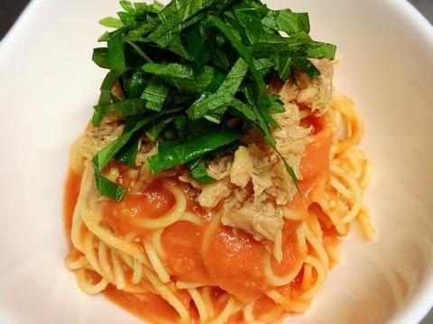 トマトの旨味たっぷり‼︎ツナとトマトの冷製スパサラ