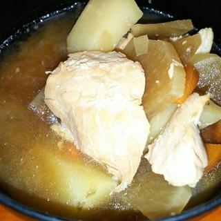 鮭とにんにくのスタミナあら汁