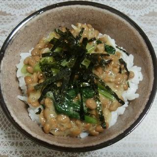 小松菜とあみえびの納豆