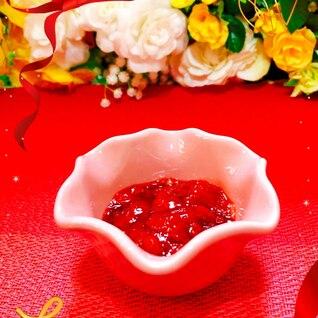 冷凍苺でトロッと手作りジャム