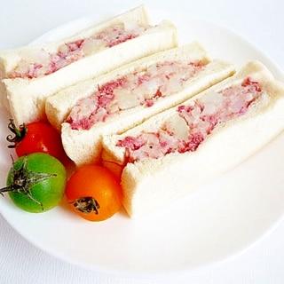 コンビーフポテトサンド