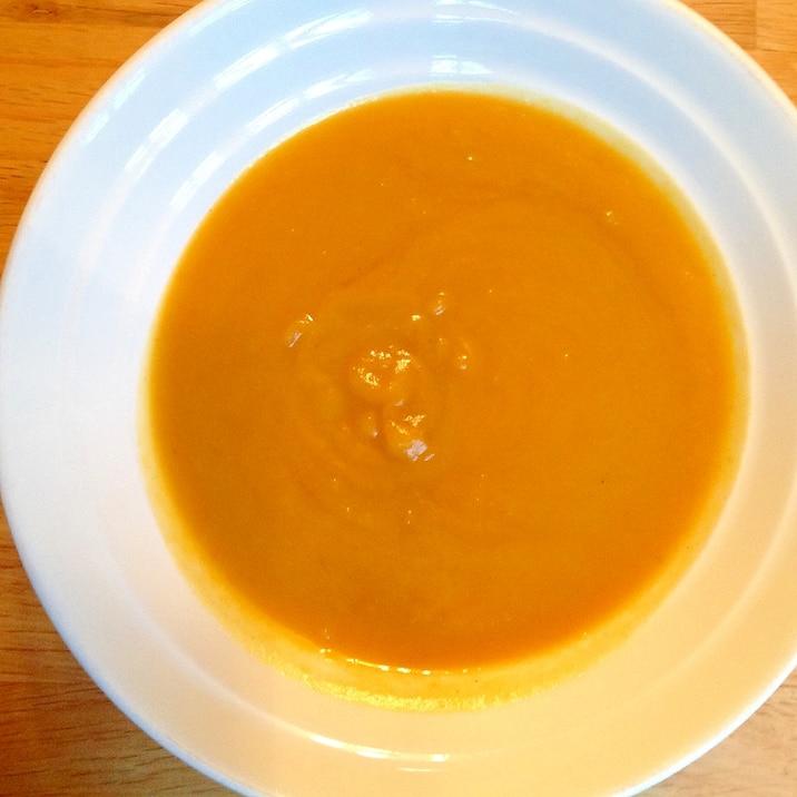 オーブン任せの簡単カボチャスープ
