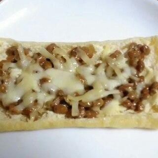 油揚げのパリパリ納豆チーズ焼き