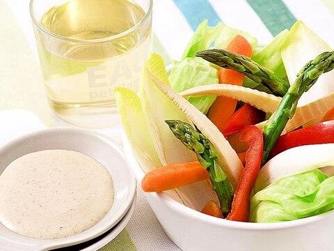 「ごまだれ」で簡単♪春野菜のバーニャカウダ風