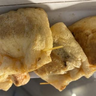 油揚げの納豆キムチ