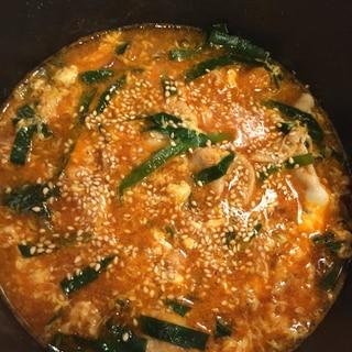 キムチスープで作るクッパ