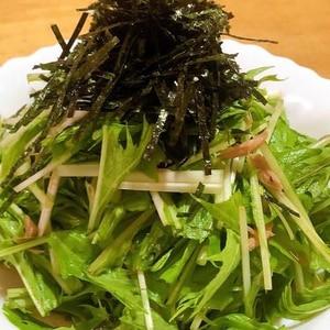シャキシャキ水菜サラダ♪♪